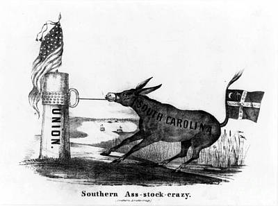 Secession Cartoon, 1861 Print by Granger