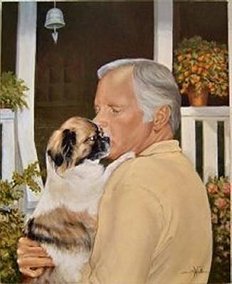 Tibetan Spaniel Painting - Secrets by Barbara Walker