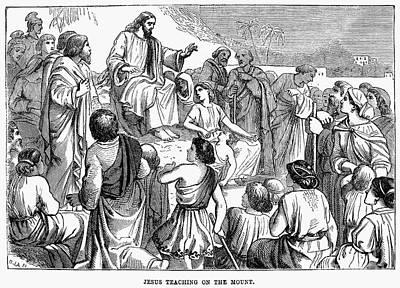 Sermon On The Mount Print by Granger