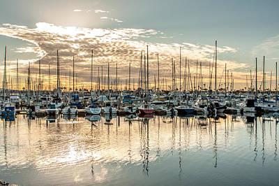 Up201209 Photograph - Shelter Island Marina Sunrise by Josh Whalen