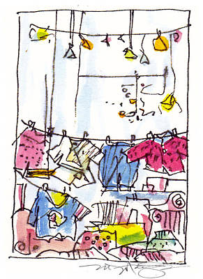 Shop Window Paris Print by Marilyn MacGregor