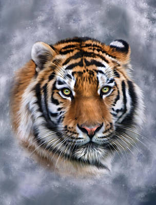 Tiger Digital Art - Siberian Tiger by Julie L Hoddinott