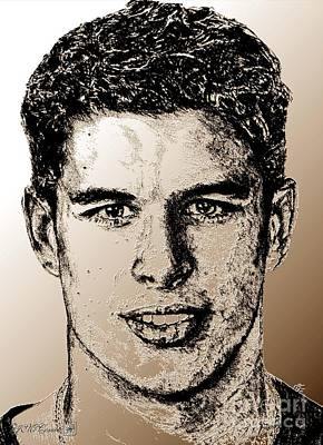 Mccombie Mixed Media - Sidney Crosby In 2007 by J McCombie