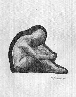 Sketch Print by Safa Al-Rubaye