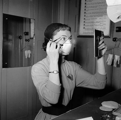 Domestic Bathroom Photograph - Smog Masks by Juliette Lasserre