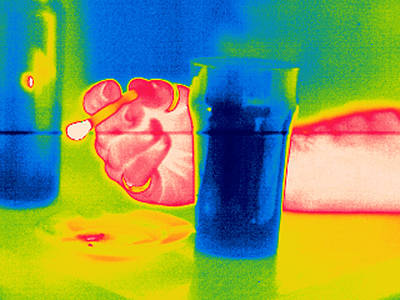 Smoking And Drinking, Thermogram Print by Tony Mcconnell
