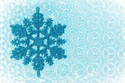 Christmas Lights Photograph - Snow Flake by Tom Gowanlock