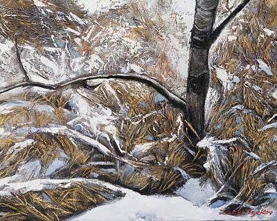 Brunch Painting - Snow Grass by Jack Tzekov