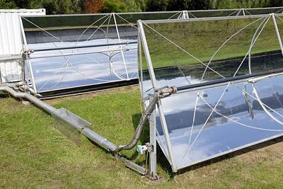 Technical Photograph - Solar Parabolic Mirrors, Cologne, Germany by Detlev Van Ravenswaay