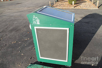 Solar Powered Trash Compactor Print by Photo Researchers, Inc.