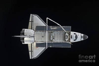Space Shuttle Atlantis Backdropped Print by Stocktrek Images
