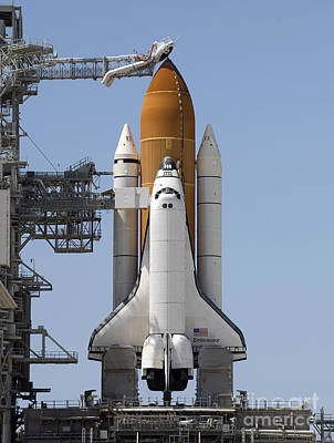 Space Shuttle Endeavour Sits Ready Print by Stocktrek Images