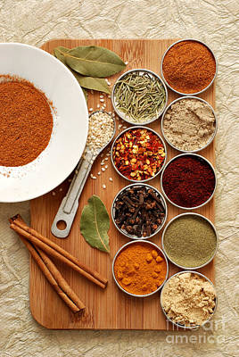 Spices Print by HD Connelly