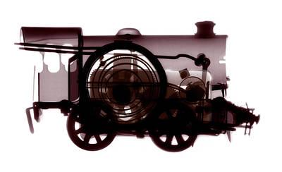 Spring Train, X-ray Print by Neal Grundy
