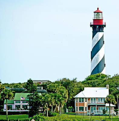 St. Augustine Lighthouse Print by Kenneth Albin
