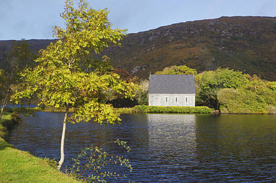 Gougane Barra Photograph - St. Finbarres Oratory On Shore by Ken Welsh