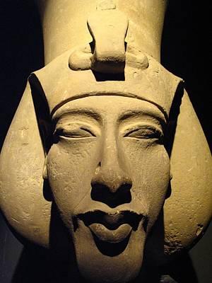 Statue Of Pharaoh Akhenaten, Also Known Print by Richard Nowitz