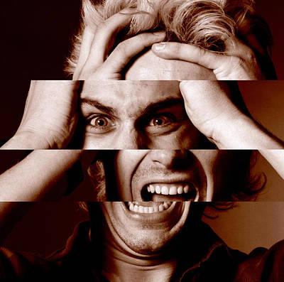 Stressed Man Print by Victor De Schwanberg