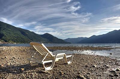 Sun Chair On Lake Maggiore Print by Joana Kruse