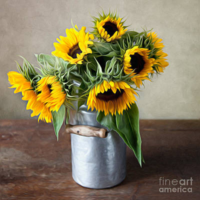 Sunflowers Digital Art - Sunflowers by Nailia Schwarz