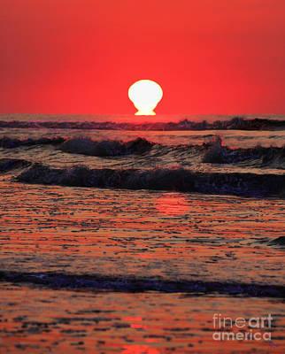 Orange Photograph - Sunrise At Myrtle Beach by Jeff Breiman
