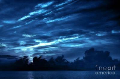 Sunrise In Blue Print by Jeff Breiman