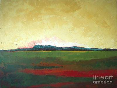 Prairie Sunset Painting - Sunrise by Vesna Antic