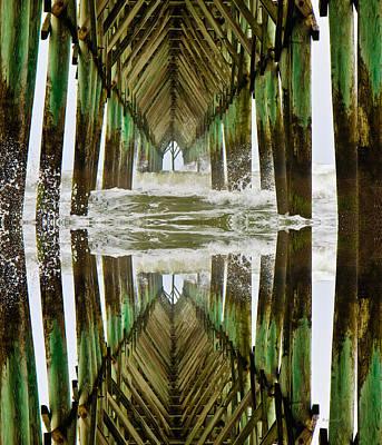 Surf City Pier Reflection Print by Betsy C Knapp