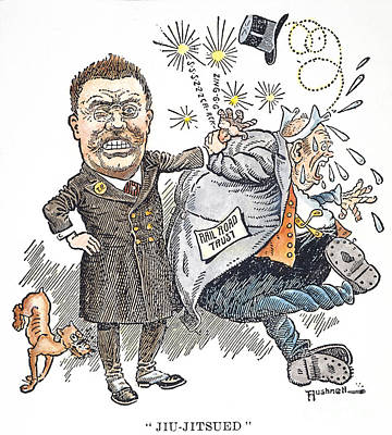 T. Roosevelt Cartoon Print by Granger
