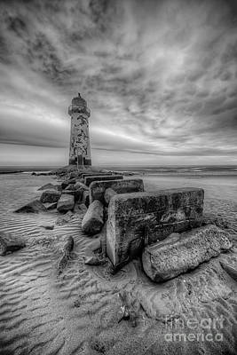 Lighthouse Digital Art - Talacre Lighthouse by Adrian Evans