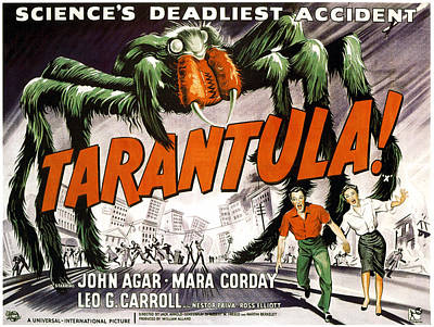 Tarantula, Bottom From Left John Agar Print by Everett