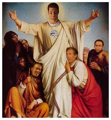 Tim Tebow Digital Art - Tebow Savior by Francois  Lariviere