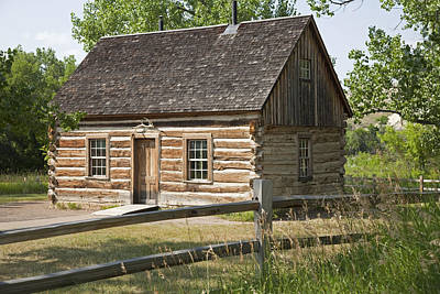 Log Cabin Photograph - Teddy Roosevelt's Maltese Cross Log Cabin by John Stephens