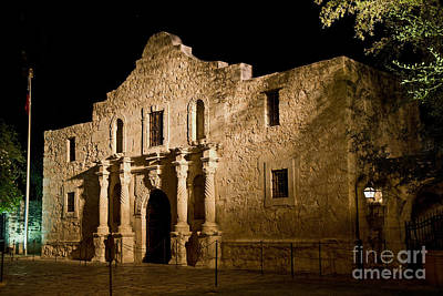 The Alamo At Night Print by Jim Chamberlain