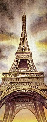 The Eiffel Tower  Print by Irina Sztukowski