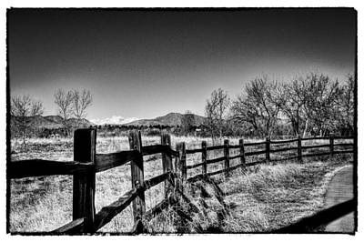 The Fence Line At South Platte Park Print by David Patterson