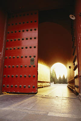 Etc. Photograph - The Giant Red Doors To The Forbidden by Justin Guariglia