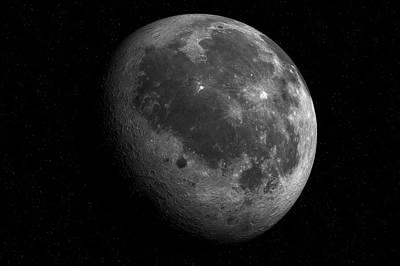 The Moon From Space Print by Detlev Van Ravenswaay