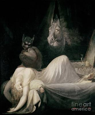 Nightmares Painting - The Nightmare by Henry Fuseli
