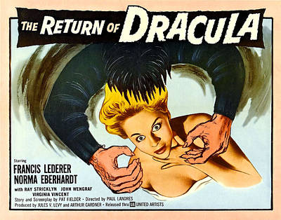 The Return Of Dracula, Francis Lederer Print by Everett