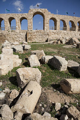 Jerash Photograph - The Ruins Of The Ancient City Of Jerash by Taylor S. Kennedy