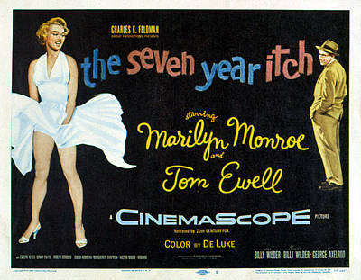 The Seven Year Itch, Marilyn Monroe Print by Everett
