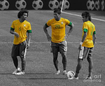 Neymar Photograph - The Three Kings by Lee Dos Santos