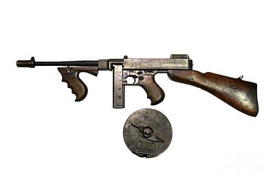 Thompson Model 1928 Submachine Gun Print by Andrew Chittock