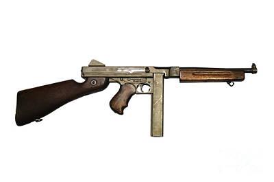 Thompson Model M1a1 Submachine Gun Print by Andrew Chittock