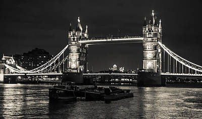 London Skyline Photograph - Tower Bridge And Barges by Dawn OConnor