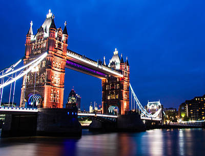 London Skyline Photograph - Tower Bridge At Night by Dawn OConnor
