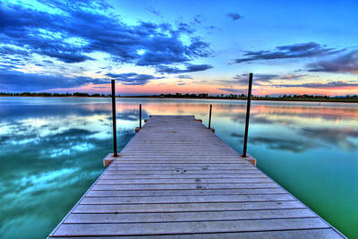 Tranquil Dock Print by Scott Mahon