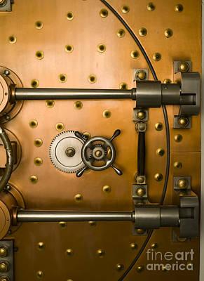 Tumbler On A Vault Door Print by Adam Crowley
