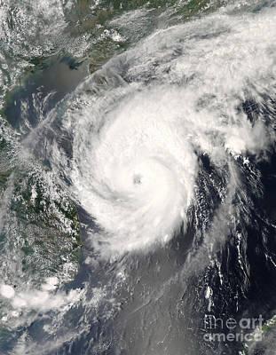 Typhoon Neoguri Approaching China Print by Stocktrek Images
